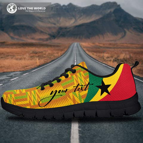 Image of 1stTheWorld Ghana Sneakers, Ghana Coat Of Arms Pattern (Custom) A10
