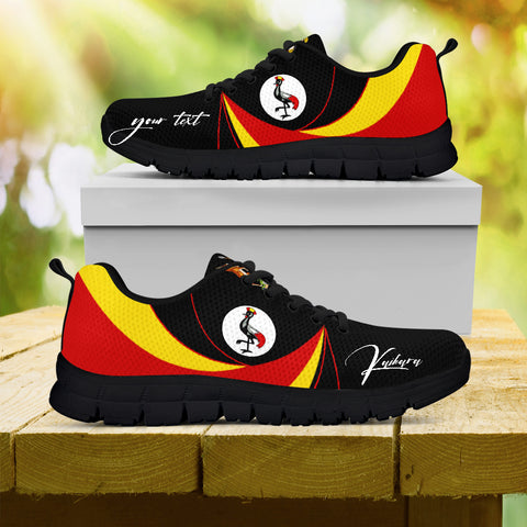 Image of 1stTheWorld (Custom) Uganda Sneakers, Uganda Strong Flag Personalize Signature A10