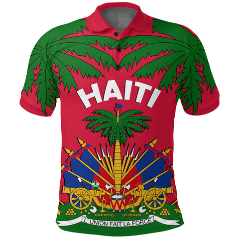 Image of Coat of Arms Haiti Polo Shirt - Le Marron Inconnu front