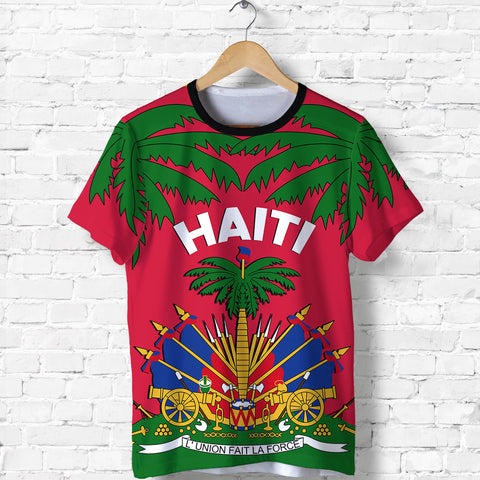 Image of Coat of Arms Haiti T Shirt - Le Marron Inconnu K4