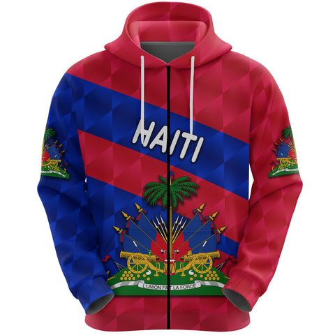 1st The World Haiti Zip Hoodie Sporty Style | Clothing | Love Haiti