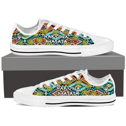 Hakuna Matata Canvas Shoes (Low/high) Womens Low Top - White / Us6 (Eu36)