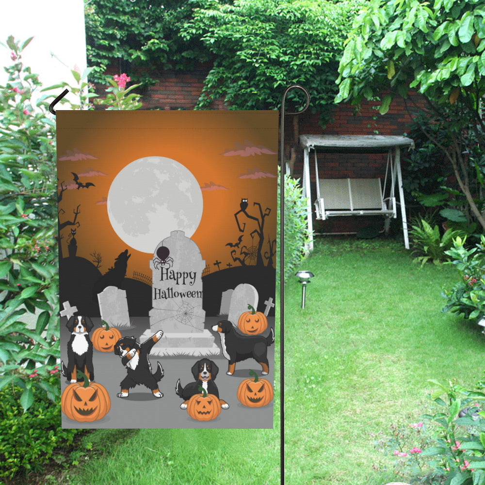 bernese mountain dog - halloween garden flag 9 | 1sttheworld