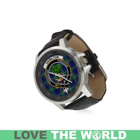 Image of Hamilton Hunting Modern Tartan Leather Strap Watch - BN03 |Accessories| 1sttheworld