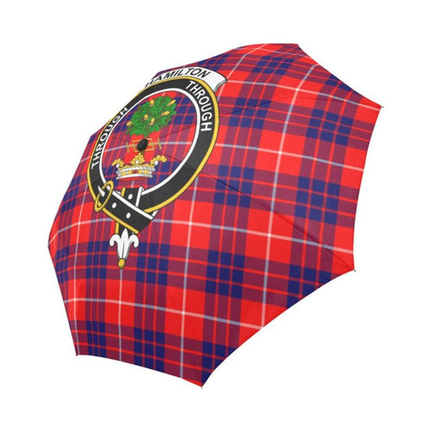 Hamilton Modern Tartan Clan Badge Auto-Foldable Umbrella R1 Auto Foldable Umbrellas