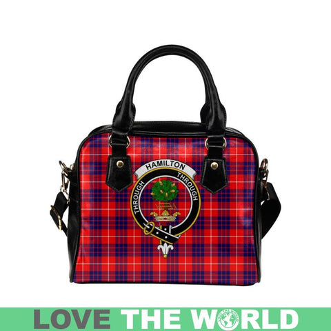 Image of Hamilton Modern Tartan Shoulder Handbag - Bn Pu Handbags