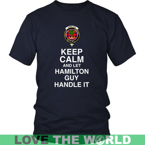 Hamilton Tartan Keep Calm Guy T-Shirt S2 Gildan Mens T-Shirt / Black S T-Shirts
