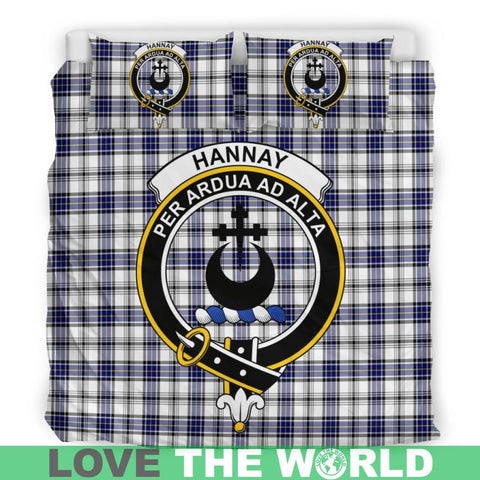 Hannay Tartan Clan Badge Bedding Set Th1 Bedding Set - Black Black / Queen/full Sets