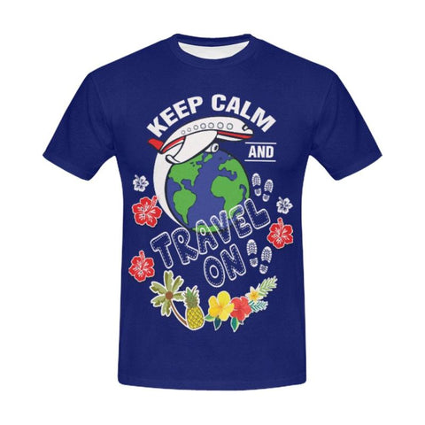 Hawaii Keep Calm And Travel All Over Print T-Shirt S12 S / Blue S1 All Over Print T-Shirt For Men
