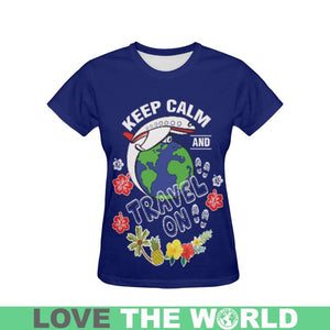 HAWAII KEEP CALM AND TRAVEL ALL OVER PRINT T-SHIRT S12