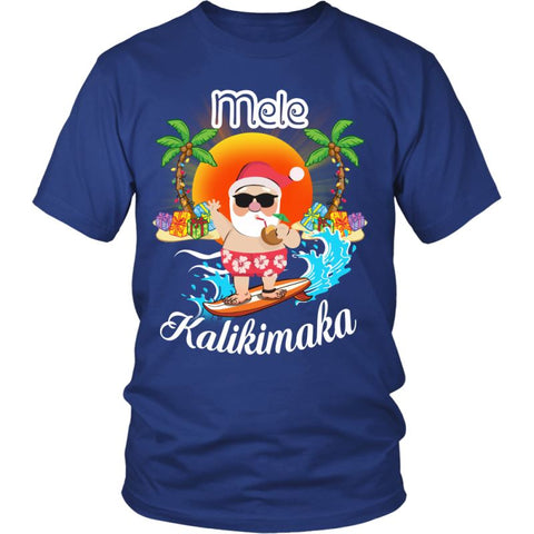 Image of Hawaii - Mele Kalikimaka T-Shirt H4 Guys Tee / Royal Blue S T-Shirts