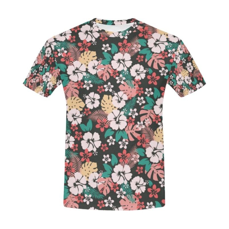 162c0aa0a238 Hawaii Pattern 11 All Over Print T-Shirt Y3 Men   S Polyester - T. Tap to  expand