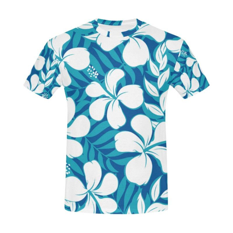 6a01e32ada96 Hawaii Pattern 12 All Over Print T-Shirt Y3 Men   S Polyester - T. Tap to  expand