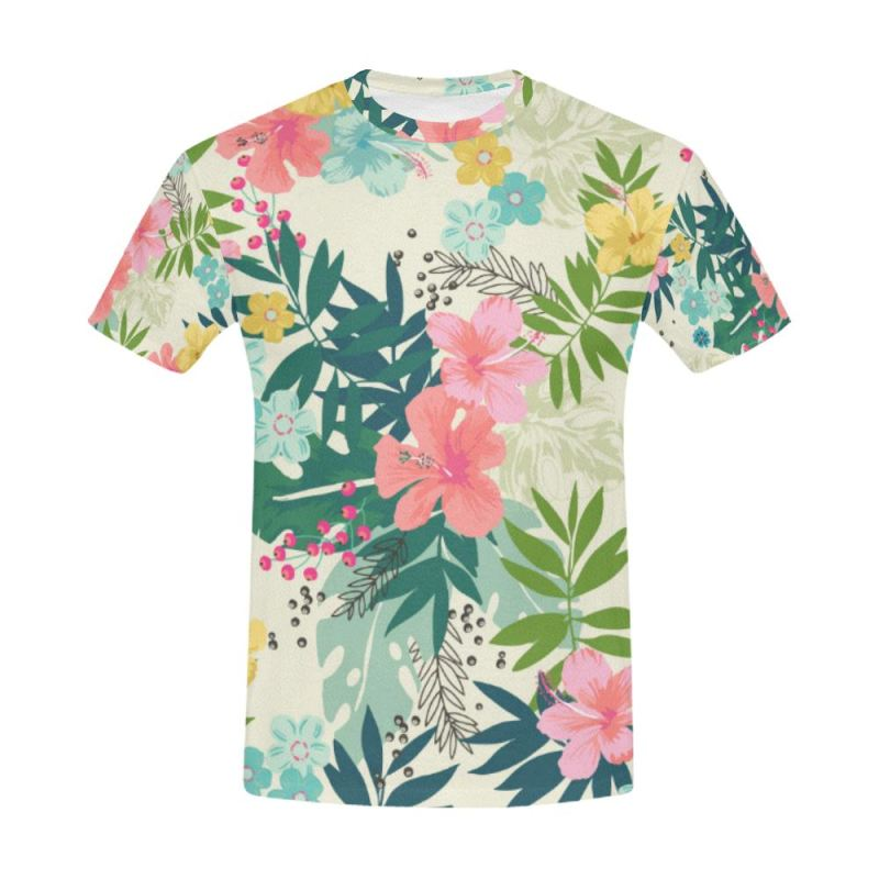 2a8b877654b5 Hawaii Pattern 13 All Over Print T-Shirt Y3 Men   S Polyester - T. Tap to  expand