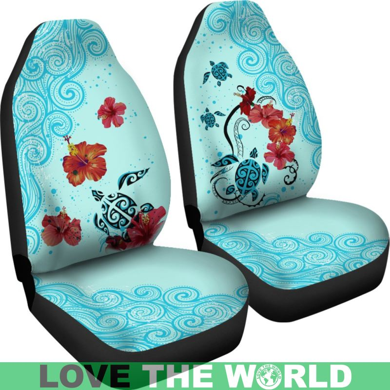 Groovy Sea Turtle Hawaiian Car Seat Covers Set Of 2 Universal Fit H4 Uwap Interior Chair Design Uwaporg