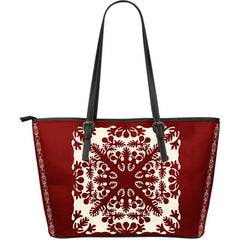 Hawaiian Quilts Large Leather Tote H4 Totes