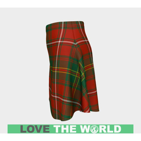 Image of Tartan Skirt - Hay Ancient Women Flared Skirt A9 |Clothing| 1sttheworld