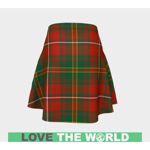 Tartan Skirt - Hay Ancient Women Flared Skirt A9 |Clothing| 1sttheworld