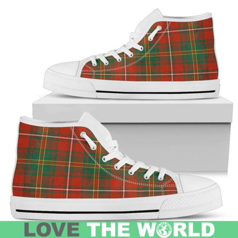 Hay Ancient Tartan Canvas Shoes Mens - Black 1 / Us5 (Eu38) Hightop