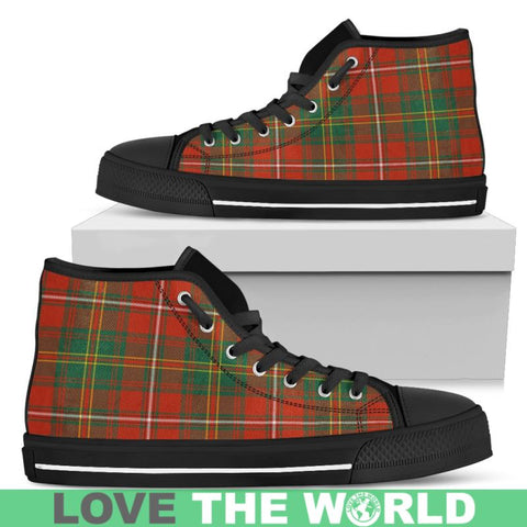Image of Hay Ancient Tartan Canvas Shoes Mens - Black 1 / Us5 (Eu38) Hightop
