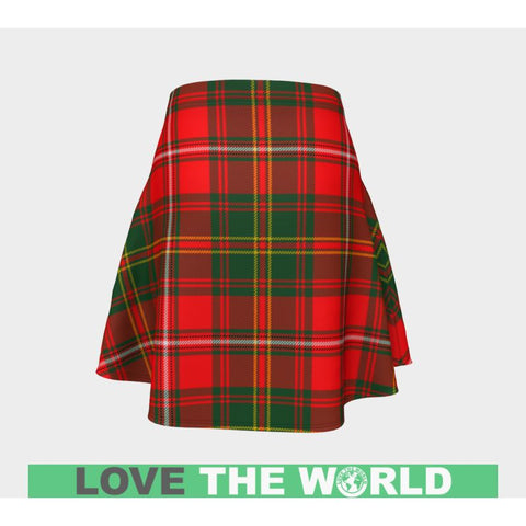 Tartan Skirt - Hay Modern Women Flared Skirt A9 |Clothing| 1sttheworld