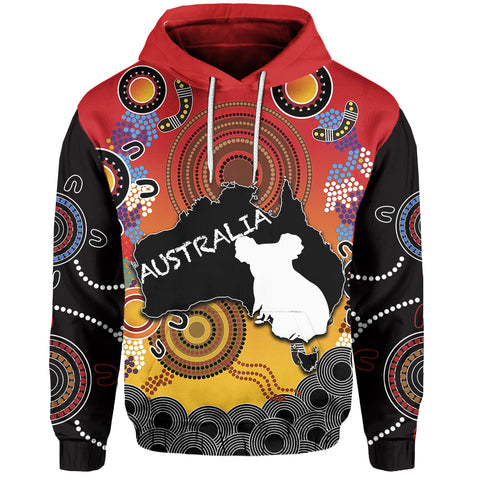 Australia Aboriginal Hoodie With Map