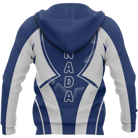 Canada In My Heart Maple Leaf Blue Hoodie K7