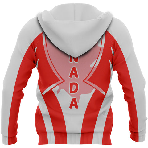 Image of Canada In My Heart Red Maple Leaf Hoodie K2
