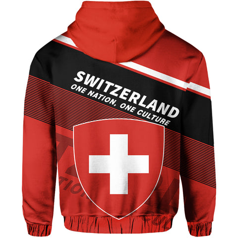 Image of Switzerland Hoodie Flag
