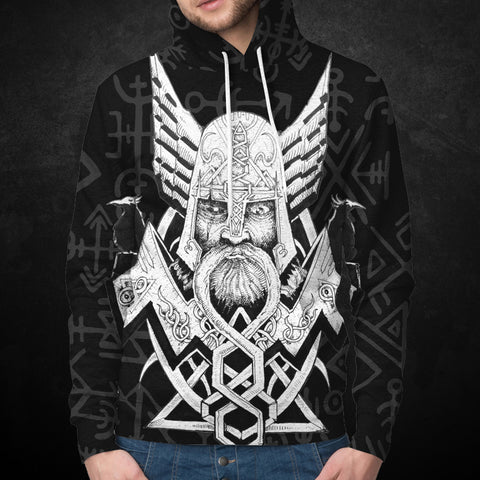 Image of Viking Hoodie - Odin Hugin Munin™ by 1sttheworld For Men And Women