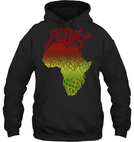 Image of Africa Hoodie - Africa Map Roots