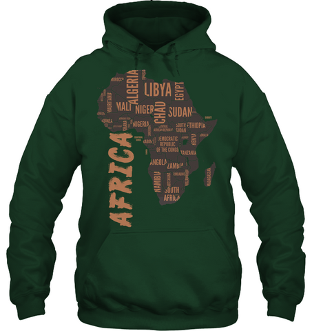 Image of Africa Hoodie - Africa Map - J5