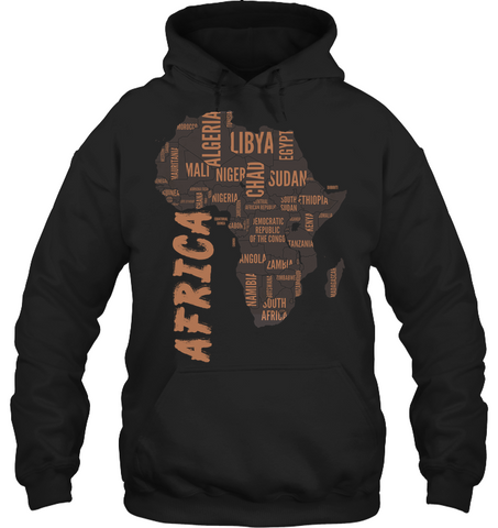 Africa Hoodie - Africa Map