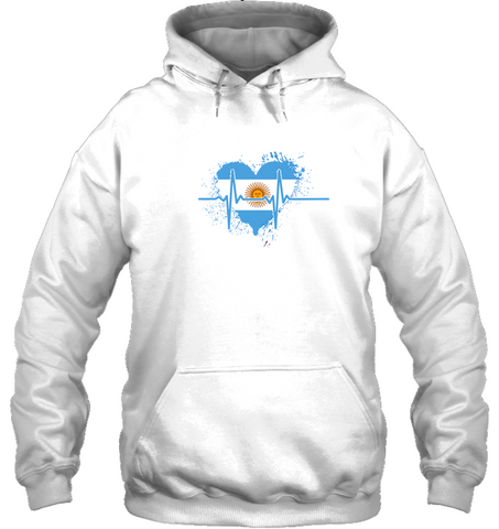 Argentina Heartbeat Hoodie - Black