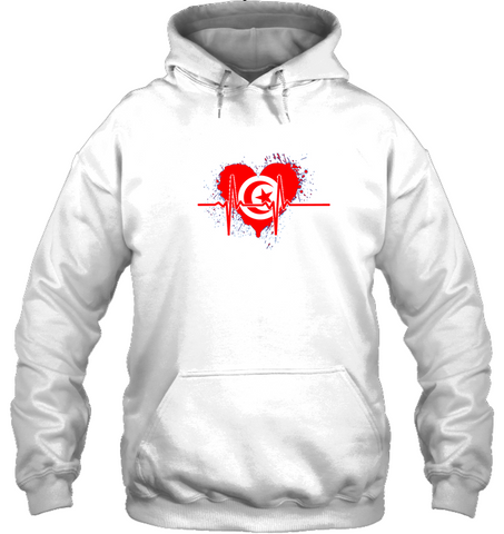 Image of Tunisia Heartbeat Hoodie - White
