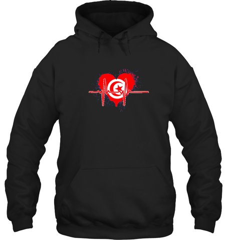 Image of Tunisia Heartbeat Hoodie - Black