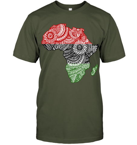 Image of Africa T-shirt - Africa Map V.2 - J5