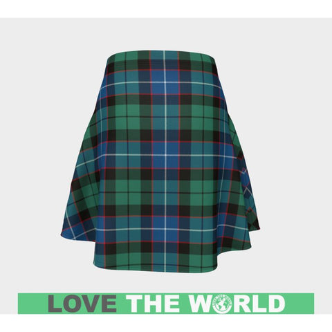 Image of Tartan Skirt - Hunter Ancient Women Flared Skirt A9 |Clothing| 1sttheworld