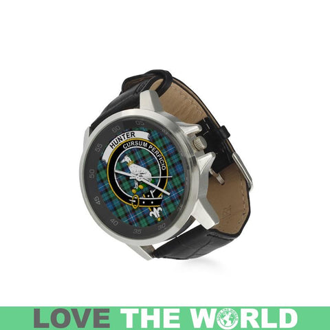 Image of Hunter Ancient Tartan Leather Strap Watch - BN03 |Accessories| 1sttheworld