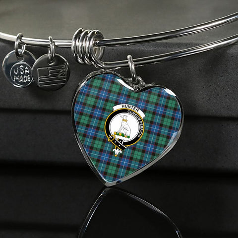 Image of Hunter Ancient Tartan Silver Bangle - Sd1 Luxury Bangle (Silver) Jewelries