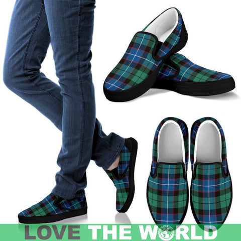 Hunter Ancient Tartan Slip Ons Womens Slip Ons - White / Us6 (Eu36)
