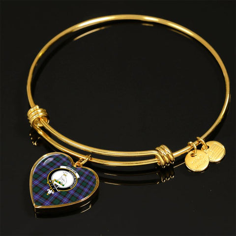 Hunter Modern Tartan Golden Bangle - Tm Adjustable Bangle Jewelries