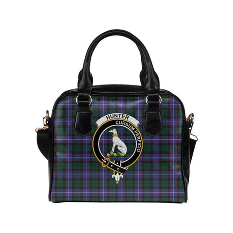 Image of Hunter Modern Tartan Shoulder Handbag - Bn Pu Handbags