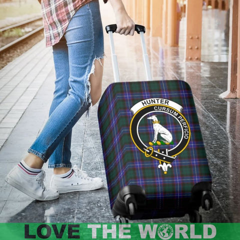 Image of Hunter Tartan Clan Badge Luggage Cover Hj4 | Love The World