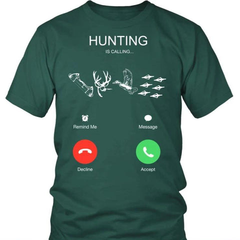 Hunting Is Calling T-Shirt C1 Gildan Womens T-Shirt / Black S T-Shirts