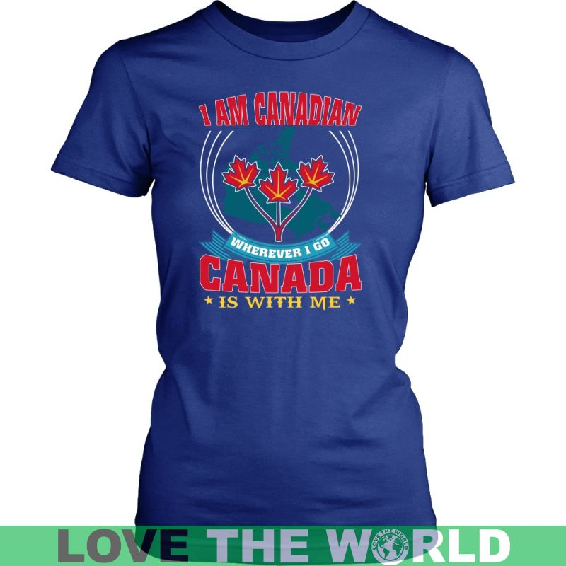 I Am Canadian 27 District Unisex Shirt / Royal Blue S T-Shirts