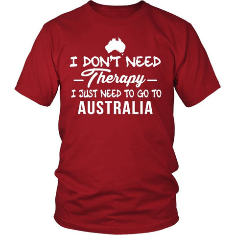 Image of I Just Need To Go Australia A9 District Unisex Shirt / Red S T-Shirts