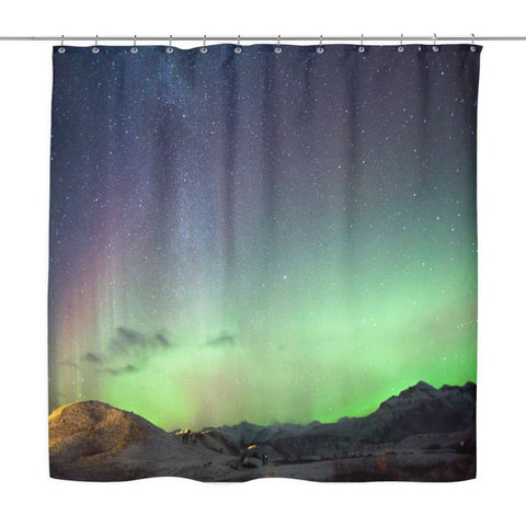 Iceland Aurora Shower Curtain - D1 Curtains