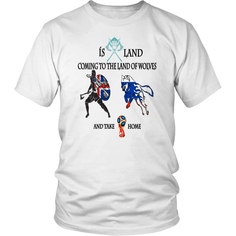 6a9f9bea442 Iceland Coming To World Cup 2018 T-Shirt Th7 District Unisex Shirt / White  S. Tap to expand