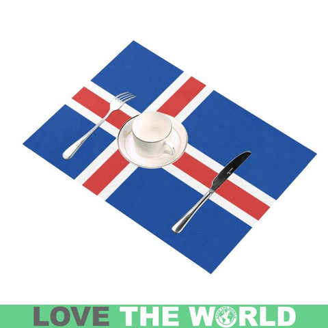 Iceland Flag Placemat O4 One Size Placemats
